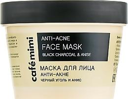 Perfumería y cosmética Mascarilla facial con carbón negro y aceite esencial de anís - Cafe Mimi Face Mask