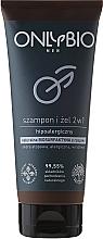 Perfumería y cosmética Gel de ducha-champú hipoalergénico - Only Bio Men 2 in 1 Shampoo & Gel