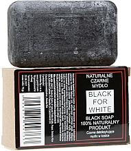 Perfumería y cosmética Jabón negro con carbón activado, 100% natural - Biomika Black For White