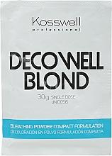 Perfumería y cosmética Decoloración en polvo, formulación compacta - Kosswell Professional Decowell Blond