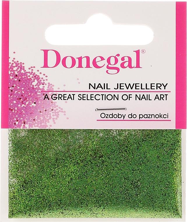 Donegal - Purpurina para uñas, verde