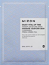 Perfumería y cosmética Mascarilla facial hidratante de tejido con extracto de té verde - Mizon Enjoy Vital-Up Time Watery Moisture Mask