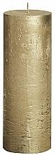 Perfumería y cosmética Vela cilíndrica, Metallic Gold, 190/68 mm - Bolsius Candle