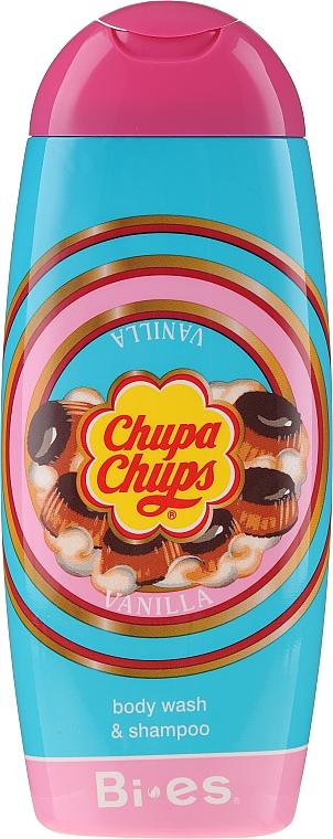 Gel de ducha y champú infantil con aroma a vainilla - Bi-es Chupa Chups Vanilla Body Wash & Shampoo