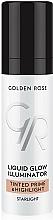 Perfumería y cosmética Prebase de maquillaje y iluminador facial líquido - Golden Rose Liquid Glow Illuminator Tinted Prime & Highlight