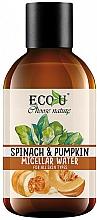 Perfumería y cosmética Agua micelar desmaquillante con calabaza y espinacas - Eco U Pumpkins And Spinach Micellar Water