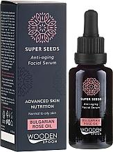 Perfumería y cosmética Sérum facial antienvejecimiento - Wooden Spoon Super Seeds Bulgarian Rose Oil Anti-aging Facial Serum