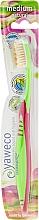 Perfumería y cosmética Cepillo dental de dureza media, verde-rosa - Yaweco Toothbrush Natural Medium