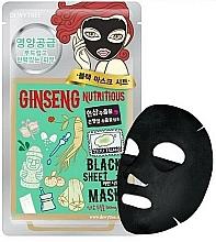 Perfumería y cosmética Mascarilla facial de tejido con extracto de ginseng - Dewytree Ginseng Nutritious Black Sheet Mask