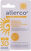 Perfumería y cosmética Bálsamo labial con aceite de semilla de algodón y almendra UVA/UVB - Allerco Emolienty Molecule Regen7 Lip Balm SPF30