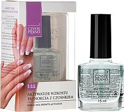 Perfumería y cosmética Activador para crecimiento de uñas - Czyste Piekno Garlic Nail Growth Activator