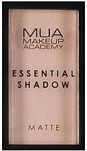 Perfumería y cosmética Sombras de ojos altamente pigmentados, efecto mate - MUA Essential Shadow Matte