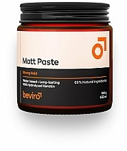 Perfumería y cosmética Pasta moldeadora con queratina, fijación fuerte - Beviro Matt Paste Strong Hold