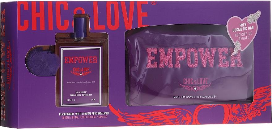 Chic&Love Empower - Set (eau de toilette/100ml + neceser)