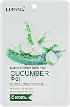 Perfumería y cosmética Mascarilla facial natural de tejido con extracto de pepino - Eunyul Natural Moisture Mask Pack