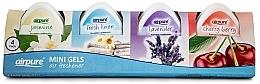 Perfumería y cosmética Airpure 4 Pack Mini Gels - Set mini ambientadores en gel (gel/4x60g)