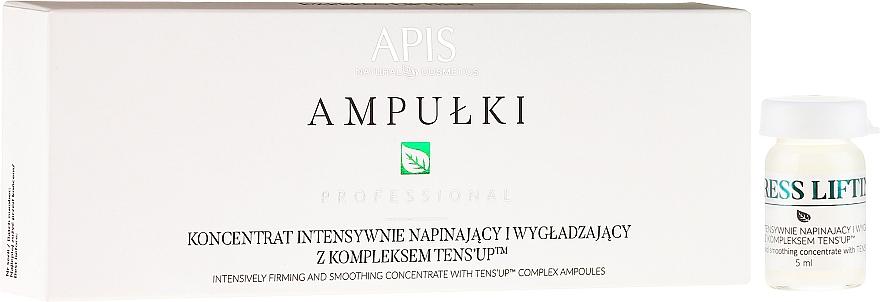 Concentrado facial hidratante con colágeno, ácido hialurónico, ceramidas y aceite de macadamia - APIS Professional Concentrate Ampule Ten's Up — imagen N1