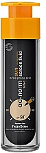 Perfumería y cosmética Protector solar con color para rostro con carbón activo, SPF50 - Frezyderm Ac-Norm Active Sun Screen Tinted Fluid Spf50+