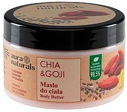 Perfumería y cosmética Manteca corporal reafirmante con extracto de chía y bayas de goji, vegana - Aura Naturals Chia & Goji Body Butter