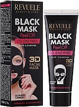 Perfumería y cosmética Mascarilla facial con carbón activo y coenzima Q10 - Revuele Black Mask Peel Off Co-Enzymes