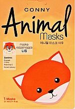 Perfumería y cosmética Mascarilla facial aclarante de tejido con extracto de café y vitamina C - Conny Animal Essence Mask