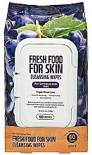 Perfumería y cosmética Toallitas húmedas de limpieza facial con extracto de uva, pieles sensibles - Superfood For Skin Fresh Food Facial Cleansing Wipes