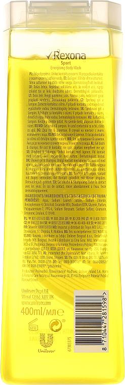 Champú y gel de ducha 2en1 con guaraná y ácido cítrico - Rexona Men Sport Shower Gel Body & Hair — imagen N4