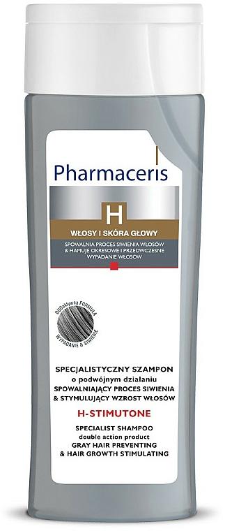Champú para prevención de canas con extracto de nuez - Pharmaceris H-Stimutone Specialist Shampoo Gray Hair Preventing & Hair Growth Stimulating