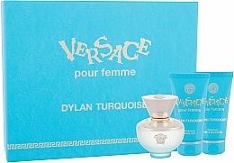 Perfumería y cosmética Versace Dylan Turquoise pour Femme - Set (eau de toilette/50ml + gel corporal/50ml + gel de ducha/50ml)