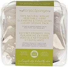 Perfumería y cosmética Esponja de limpieza facial Konjac 100% natural con arcilla verde - The Konjac Sponge Company Travel/Gift Sponge Bag Duo Pack 100% Pure