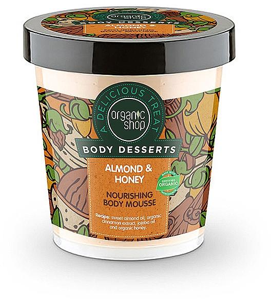 Mousse corporal con almendra & miel orgánica - Organic Shop Body Desserts Almond & Honey