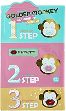 Perfumería y cosmética Kit de cuidado labial - Holika Holika Golden Monkey Glamour Lip 3-Step Kit