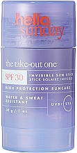 Perfumería y cosmética Protector solar invisible en stick para rostro y cuerpo, SPF 30 - Hello Sunday The Take-Out One Invisible Sun Stick SPF 30