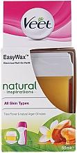 Perfumería y cosmética Cartucho de cera depilatoria liposoluble roll-on con aceite de argán - Veet Easy Wax Natural Inspirations