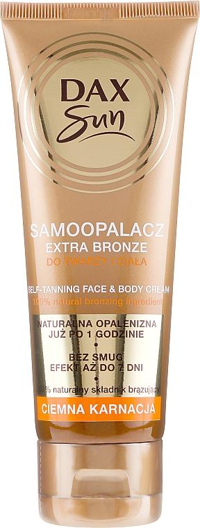 Autobronceador para pieles oscuras - DAX Sun Extra Bronze Dark Skin Self-Tanning Cream