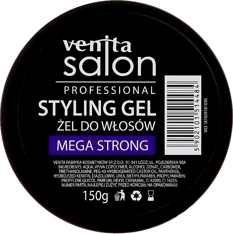 Gel moldeador de fijación extra fuerte - Venita Salon Professional Styling Mega Strong