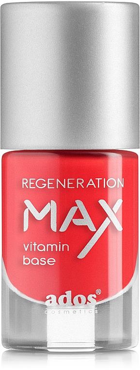 Esmalte regenerador de uñas con vitaminas - Ados Max Regeneration Vitamin Base