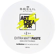 Perfumería y cosmética Cera para cabello de fijación media con efecto mate y extracto de cactus - Brelil Art Creator Extra Matt Paste