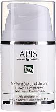 Perfumería y cosmética Mezcla de ácidos para exfoliación que ralentizan el proceso de envejecimiento - APIS Professional Fit + Pirpgron + Milk + Ferulic 40%
