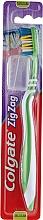 Perfumería y cosmética Cepillo dental de dureza media, verde - Colgate Zig Zag Plus Medium Toothbrush