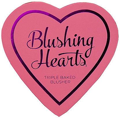 Colorete en polvo compacto, 3 tonos - I Heart Revolution Blushing Hearts Blusher