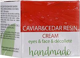 Perfumería y cosmética Crema para ojos, rostro y escote con extracto de caviar y resina de cedro - Hristina Cosmetics Handmade Caviar & Cedar Resin Cream