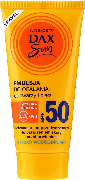 Emulsión de protección solar para rostro y cuerpo, resistente al agua - Dax Sun Emulsion SPF50