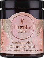 Perfumería y cosmética Manteca corporal regeneradora con karité, aroma cítrico - Flagolie by Paese Citrus Garden