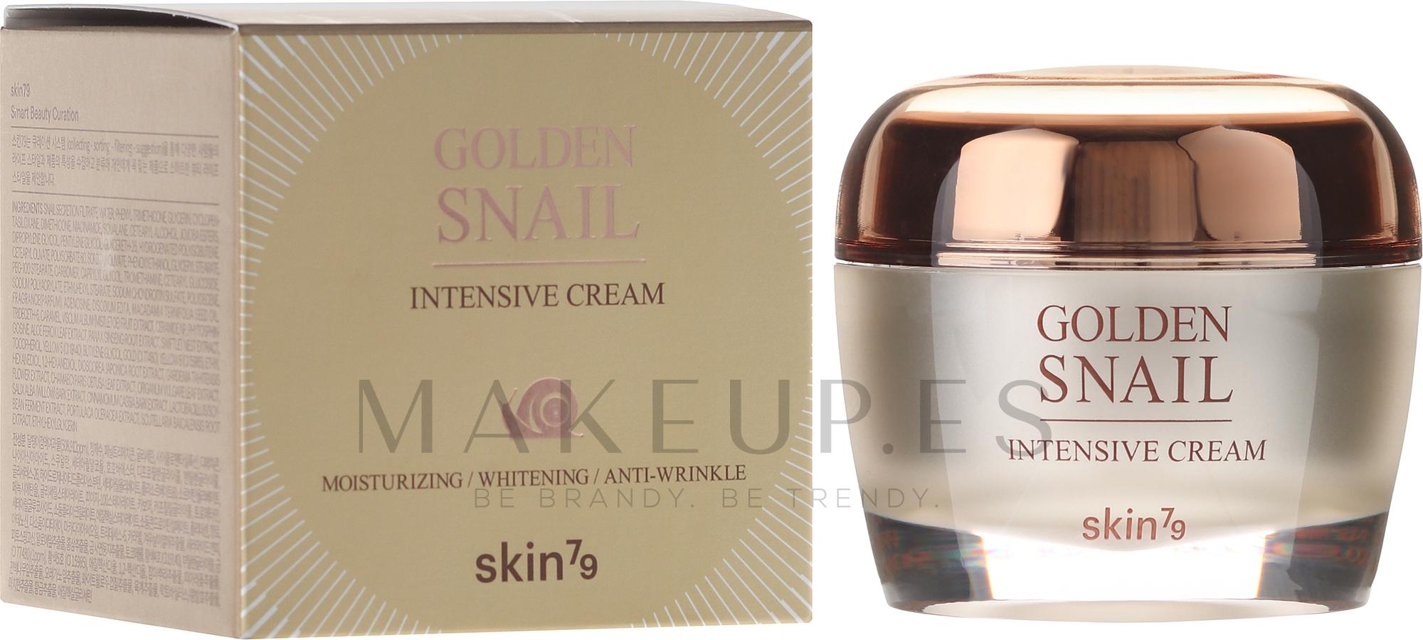 Crema facial antiedad con baba de caracol dorado - Skin79 Golden Snail Intensive Cream — imagen 50 ml