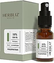 Perfumería y cosmética Spray bucal 100% natural vegano con aceite de oliva y 10% CDB - Herbliz CBD Olive Fresh Oil Mouth Spray 10%