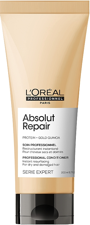 Acondicionador rejuvenecedor con quinoa dorada y proteína de trigo - L'Oreal Professionnel Absolut Repair Gold Quinoa +Protein Conditioner