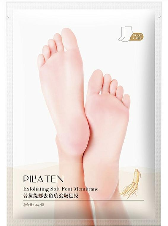 Mascarilla para talones suave con extracto de ginseng y aceite de lavanda - Pilaten Exfoliating Soft Foot