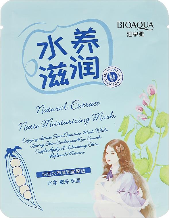 Mascarilla facial hidratante con extracto de soja - BioAqua Natural Extract Mask — imagen N1