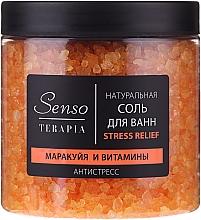 Perfumería y cosmética Sales de baño naturales antiestrés con extracto de maracuya y vitaminas - Senso Terapia Stress Relief Salt